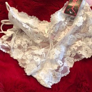 ac62ee0ae73020 Other - White lace bride strapped cheeky panties